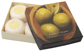 Giftbox 4 soaps of 75g ( 2.7 oz) Bergamot